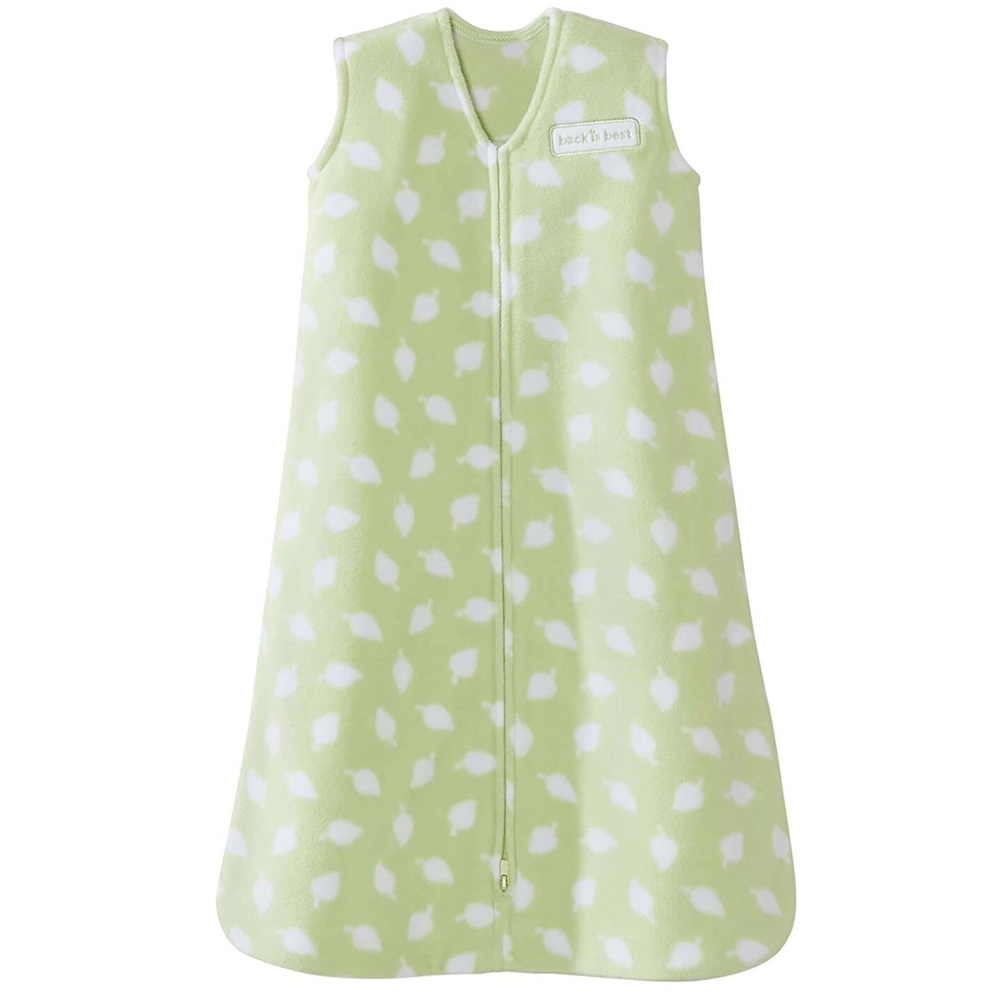 Halo Sleepsack Micro Fleece Wearable Blanket, Sage Leaves Print, Large