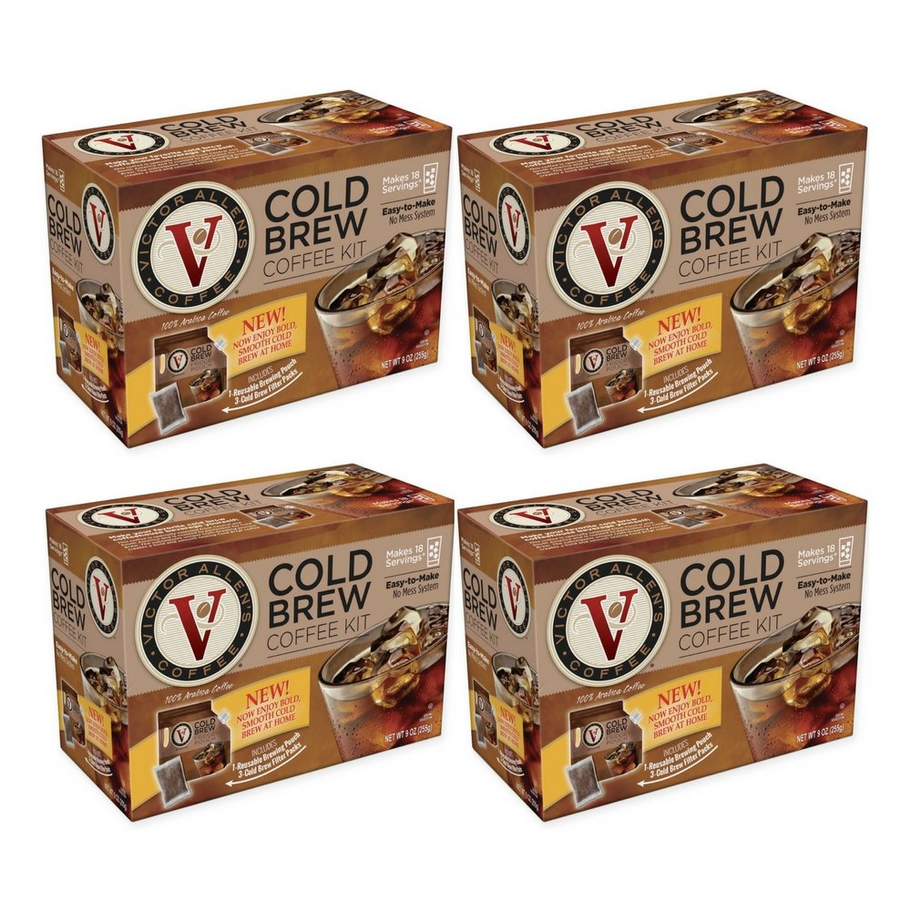 Victor Allen Coffee Now Offers A VA Cold Brew Coffee Fridge Kit With A Reusable Pouch (4 Box)
