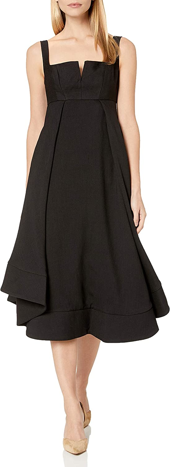 C/Meo Collective Women's Statement Sleeveless High Low Fit & Flare Party Dress