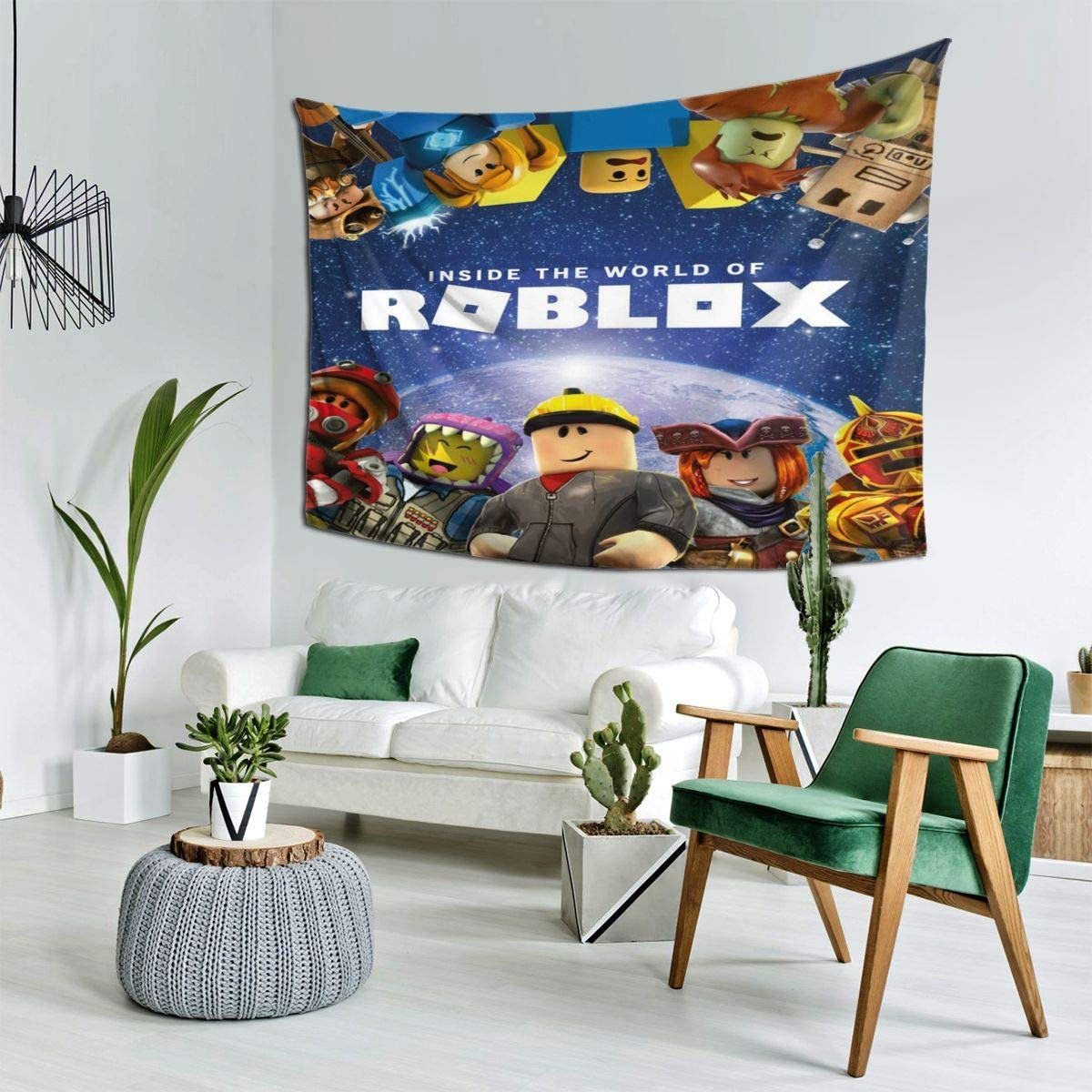 Zalfred Ro-blox Tapestry Wall Hanging Wall Tapestry Trippy for Bedroom,Tapestries Dorm Decor for Living Room,Window Curtain Picnic Mat, 60 X 80 in