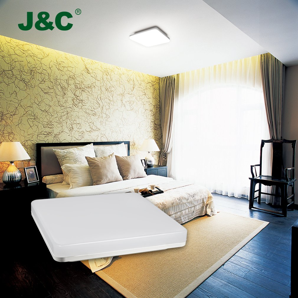 Plafoniera led - J&C® Plafoniera bagno LED 24W IP44 2050LM moderna ...