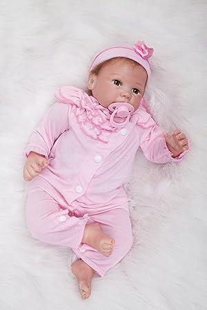 Amazon.es: O-YLS Reborn Muñeca Bebé Niña, Ojos Abiertos ...