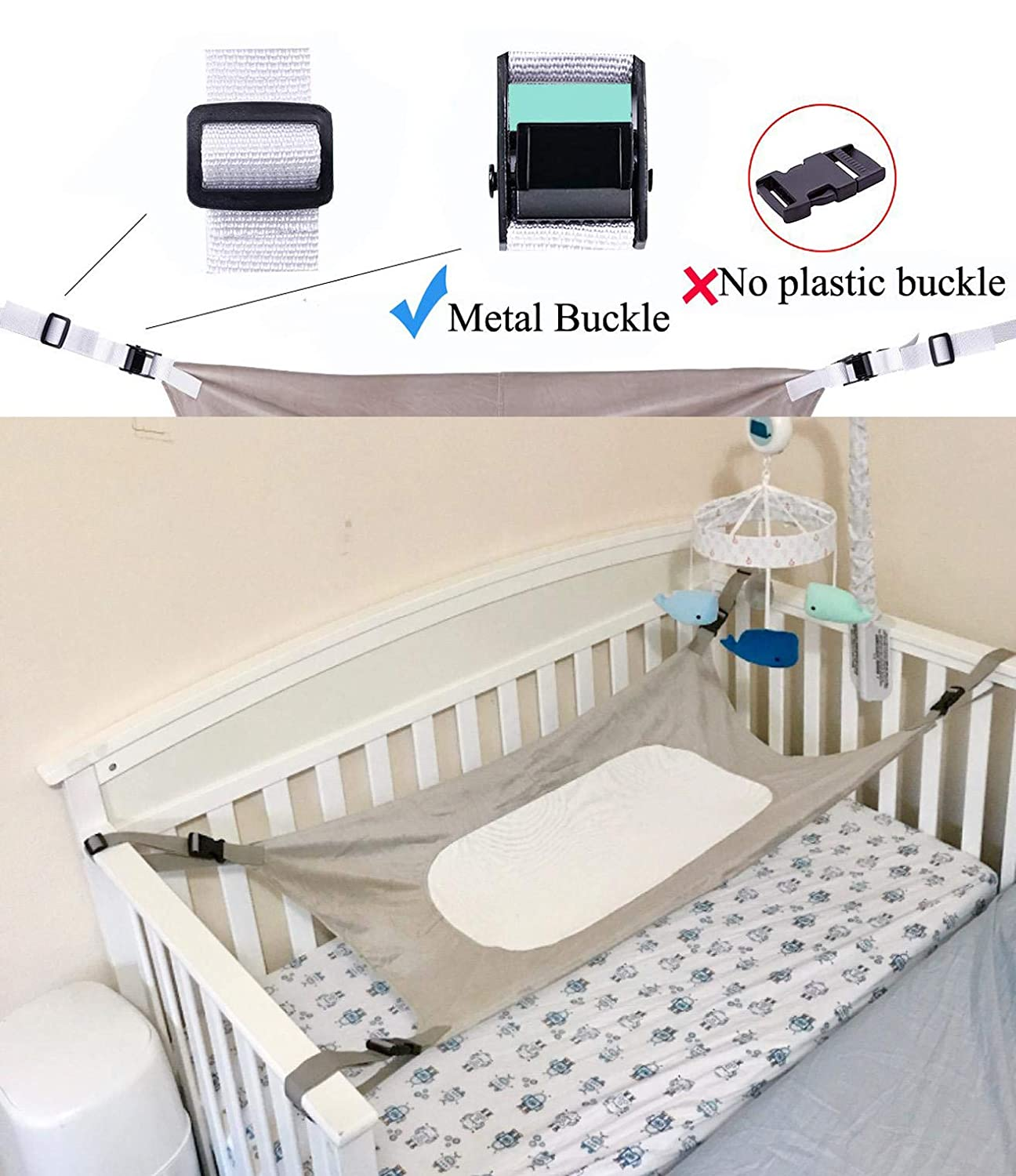 Baby Hammock Baby Crib Hammock for Infant Newborn Safe Comfortable and Healthy Baby Bassinet Great Gift for Newborn Baby