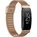 TERSELY Band Strap for Fitbit Inspire 2 & Inspire 1 / HR, Luxury Metal Stainless Steel Adjustable Replacement Bands…