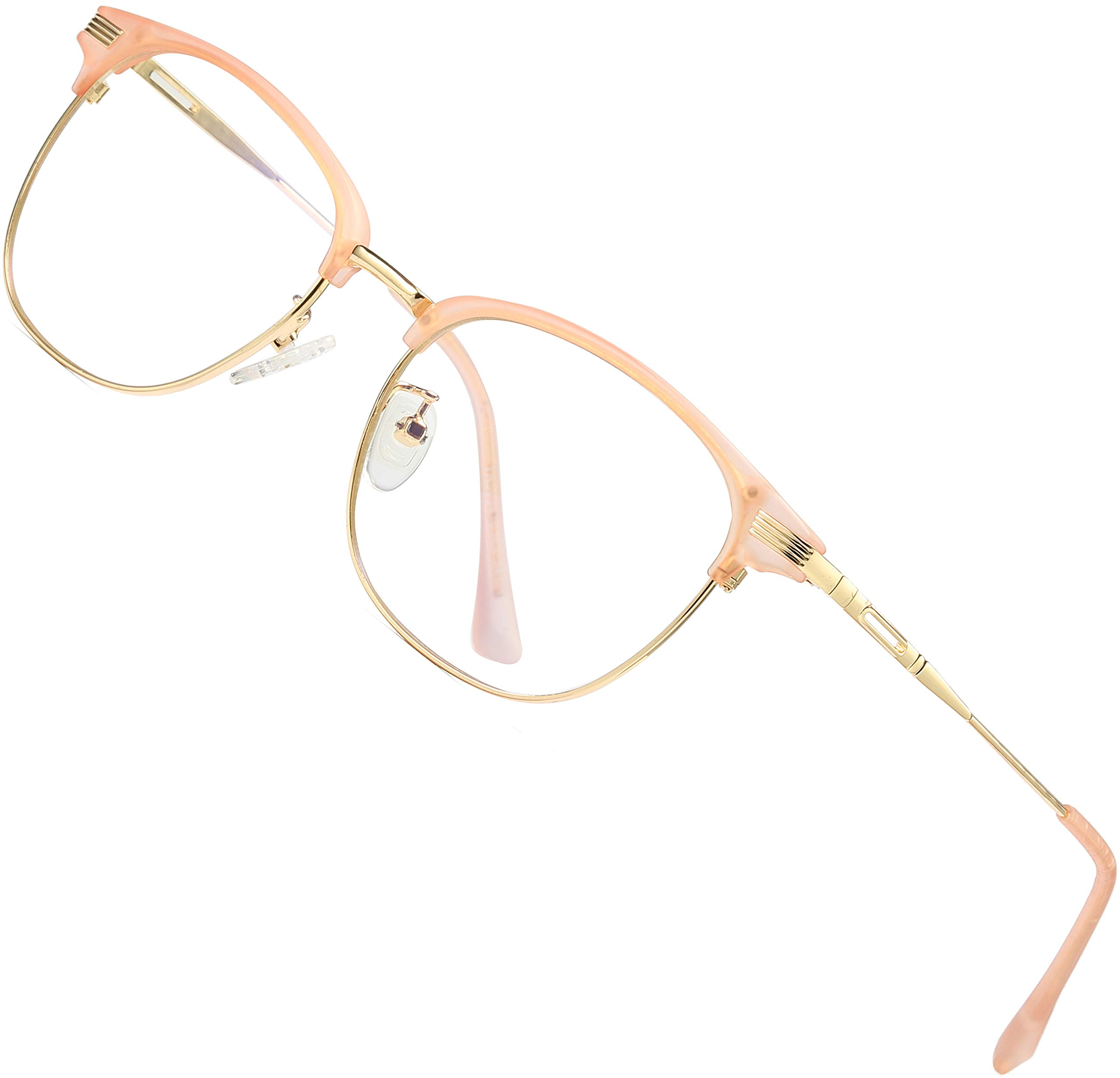 ATTCL Unisex Blue Light Blocking Glasses Eyeglasses Frame Anti Blue Ray Computer Game Glasses 5054-Pink by ATTCL