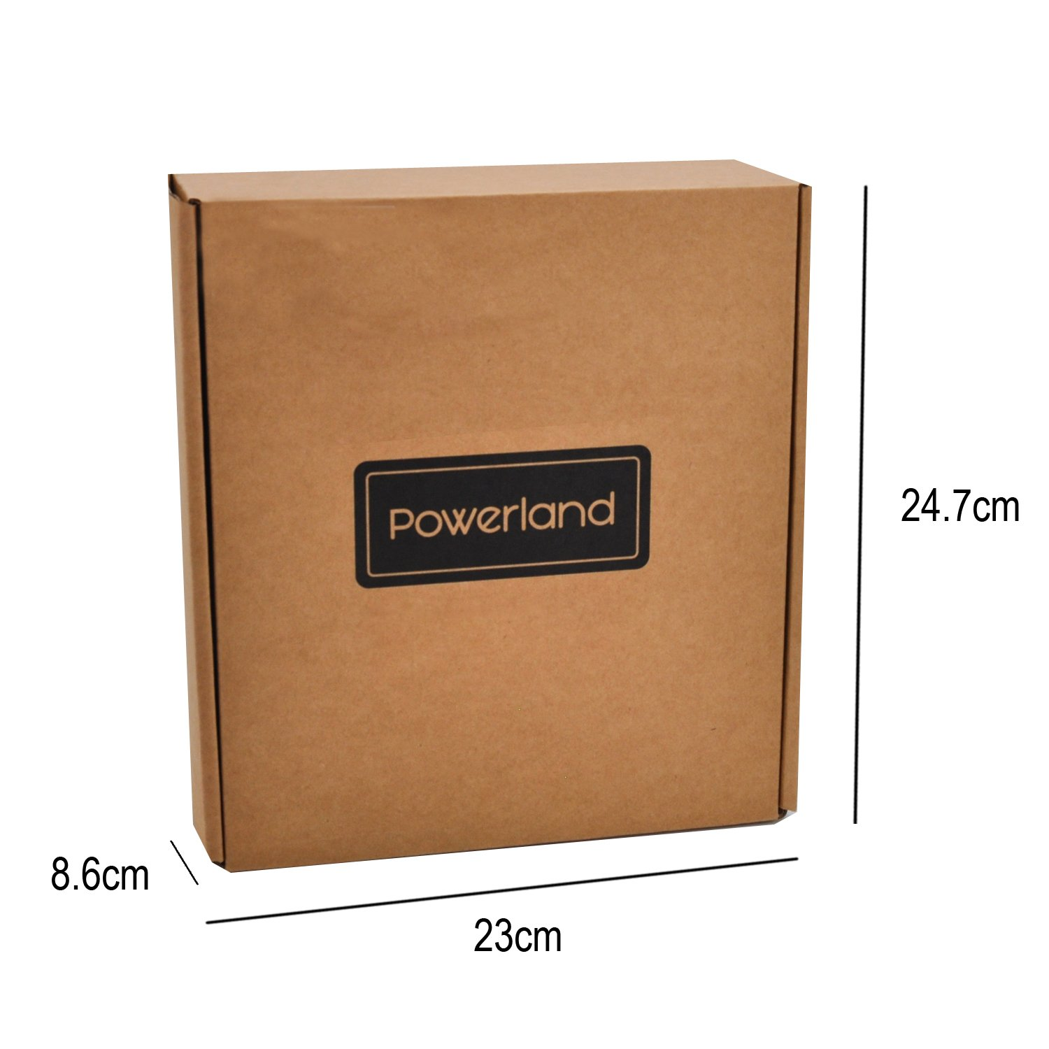Powerland Perceuse visseuse sans fil TC-CD (Li-lon, 18V,,1 vitesses, Mandrin amovible monobloc (10 mm), Eclairage LED, Livré en coffret + chargeur rapide)