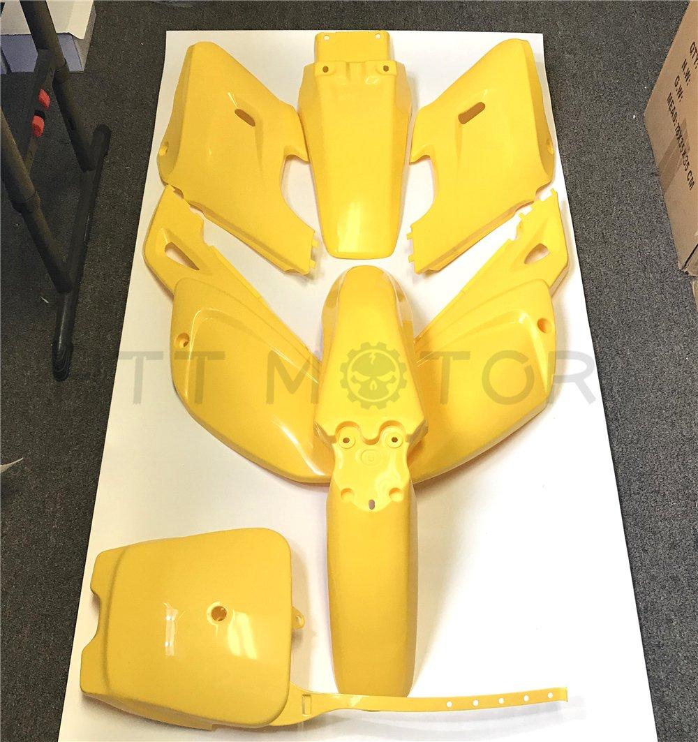 Replacement of 7 PCs Red Plastic Fairing Body Cover Kits For Baja Dirt Runner 125 HTTMT