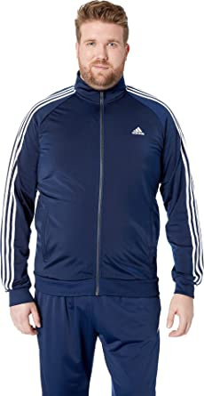 d14d5ef94e0f Image Unavailable. Image not available for. Color  adidas Men s Big   Tall  Essentials 3-Stripes Tricot Track Jacket Collegiate Navy White