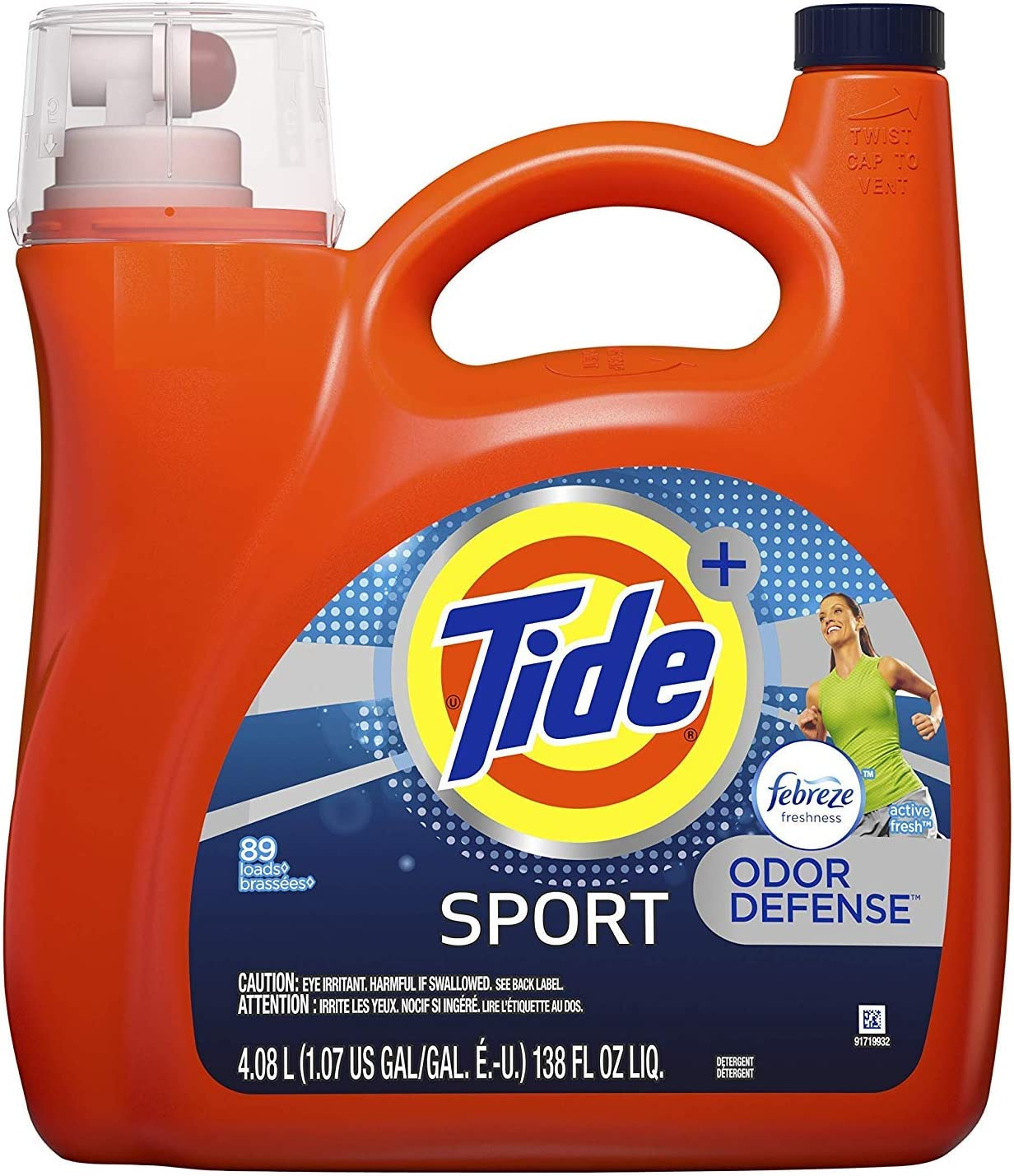 Tide Plus with Febreze Sport Active Fresh Liquid Laundry Detergent 138 Ounce