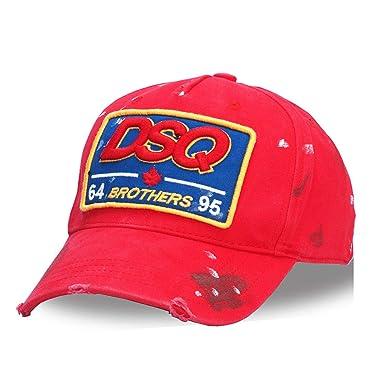Amazon.com  FUZE Cotton Baseball Caps Dsq Letters Cap Men Women Black Cap  Dad Hats  Clothing b21d5243386