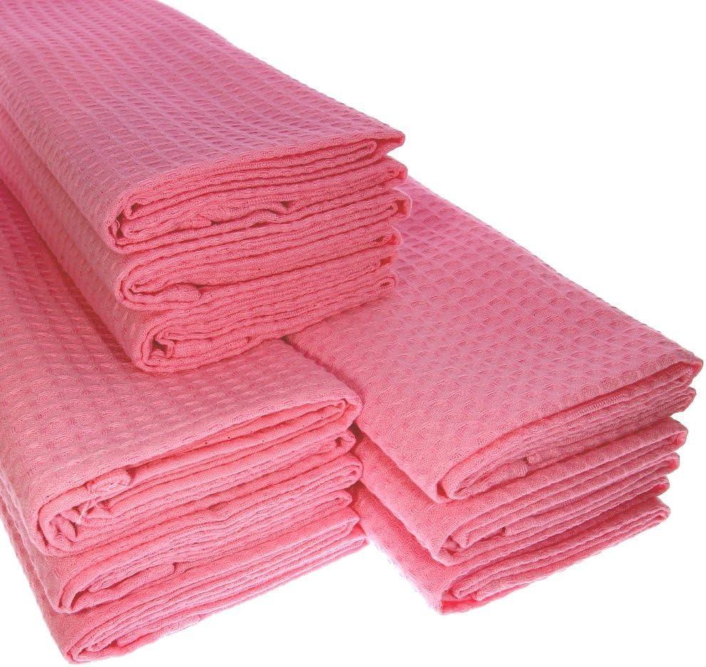 Big Pack. 9 Rosa/Rosa paños de algodón/suela de piqué/Cocina ...