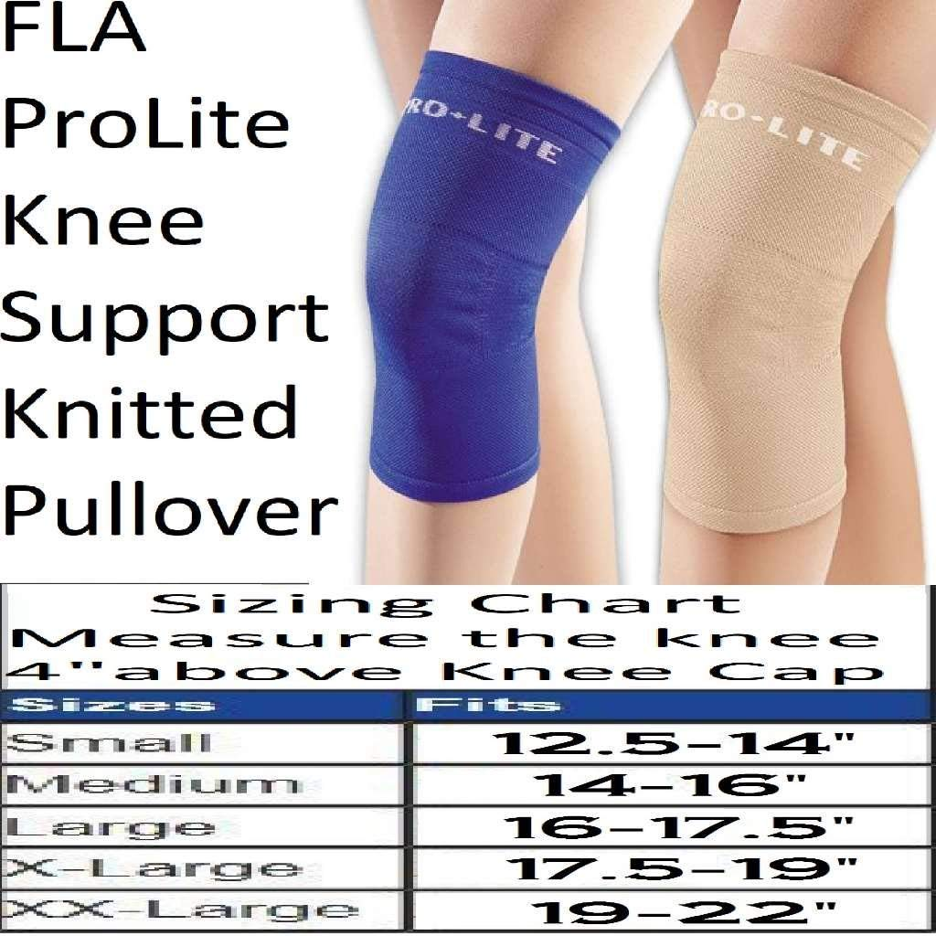 7153291283 Amazon.com: Fla 37-400SMBEG Pro Lite Knee Support Knitted Pullover,  Beige, Small: Health & Personal Care