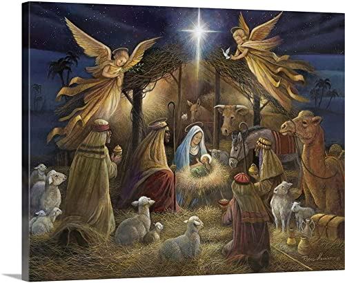 Nativity Canvas Wall Art Print