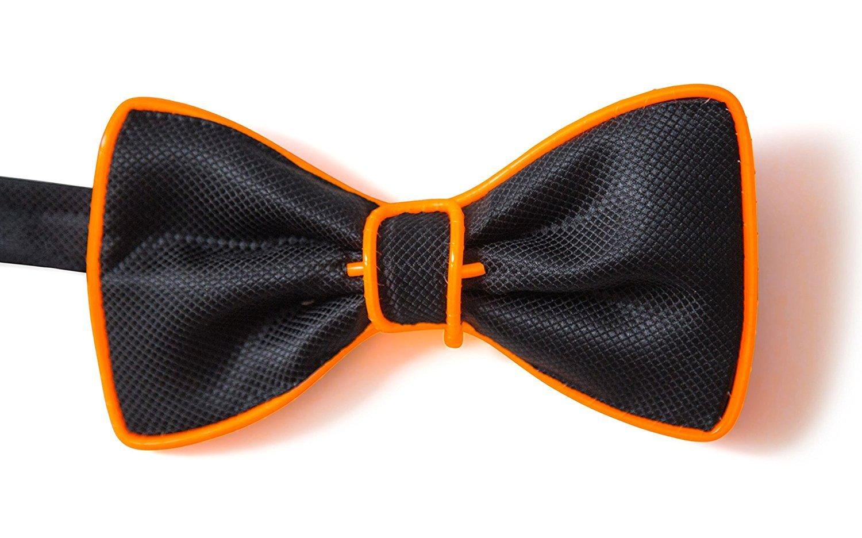 Glaray Luminous Bow Tie Novelty Adjustable EL Wire LED Light Up Glowing Bowtie Blue