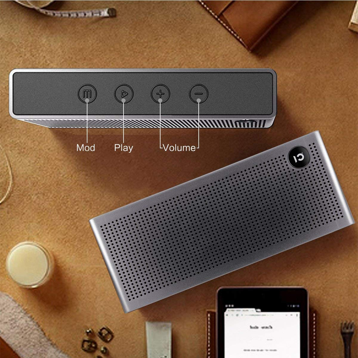 Wireless Bluetooth Speaker Portable with Superior Stereo Sound Built in Microphone Handsfree