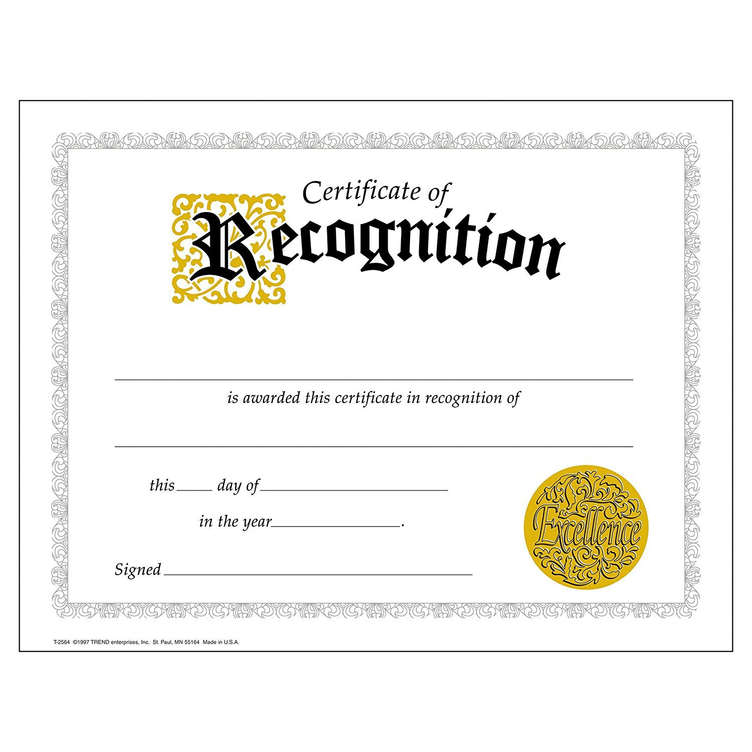 Amazon Certificate Of Recognition Large 30 Pack Office