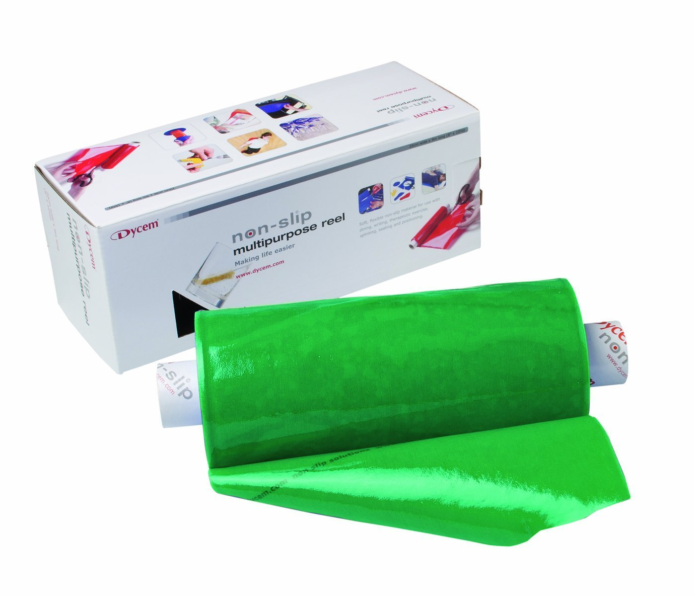 Dycem Non Slip Material, Roll, 8''X6-1/2 Foot, Forest Green