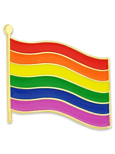 6c2cf4c541f Amazon.com: PinMart Rainbow Gay Pride Flag LGBT Enamel Lapel Pin: Garden &  Outdoor