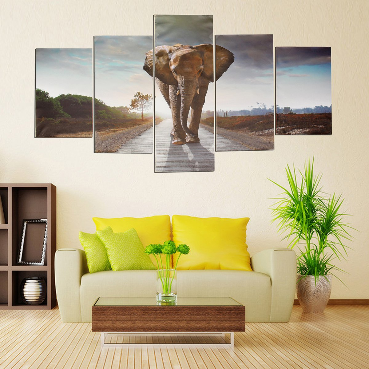 Canvas Painting LuckyFine Modern Abstract Wall Decor Art Painting 5 ...