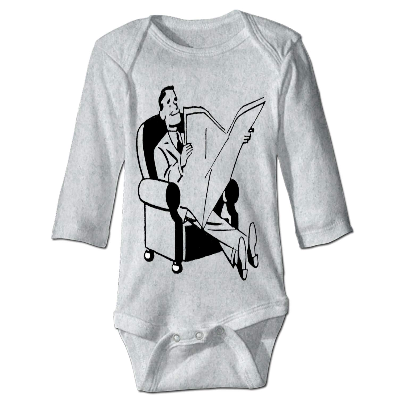 SALW Unisex Baby Long-Sleeve Onesies Chest Bone Cotton Bodysuits