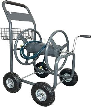 Ashman Garden Hose Reel Cart with 4 Wheels