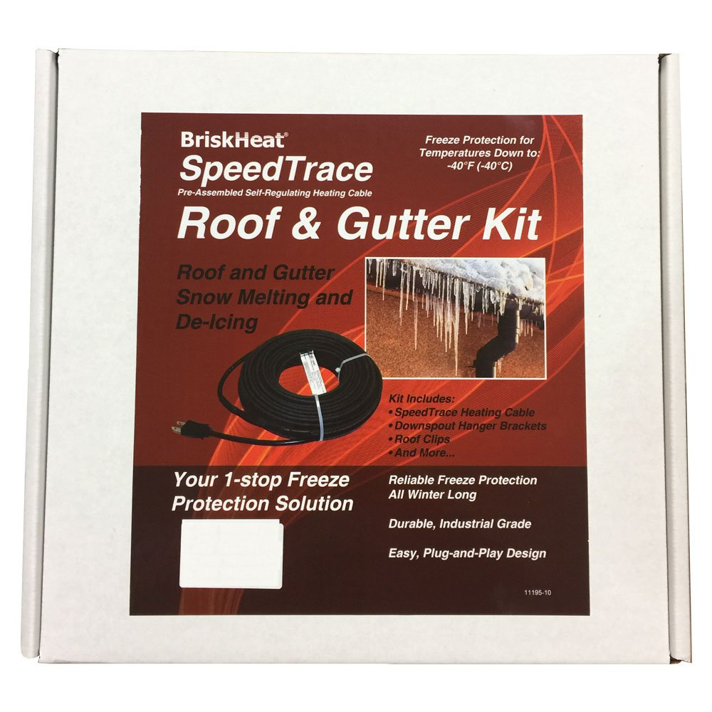 BriskHeat FFRG15-50 SpeedTrace Roof and Gutter Kits, Polymer