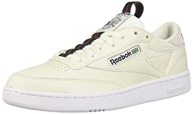 e7fb7204 Amazon.com | Reebok Club C 85 Mu Mens Beige Leather Low Top Lace Up ...