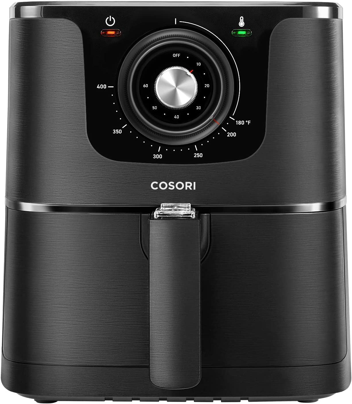 COSORI Air Fryer, 3.7-Quart, 1500-Watt Electric Hot Air Fryer Oven Oilless Cooker With Deluxe Temperature Knob Control, Nonstick Basket,Recipe Cookbook Included,ETL Listed
