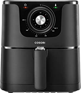 COSORI CO137-AF, 3.7-Quart, 1500-Watt Electric Hot Air Fryer Oven Oilless Cooker With Deluxe Temperature Knob Control, Nonstick Basket, 3.7Qt, color