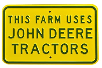 Authentic Street Signs John Deere  REAL, Premium Grade Solid Steel Embossed  PARKING SIGN 12u0026quot