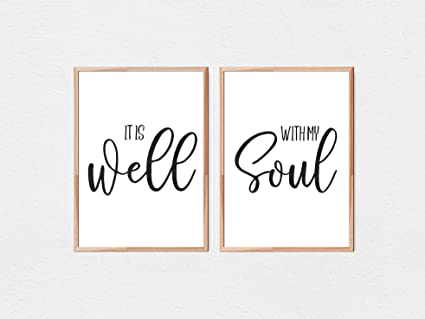 picture about It is Well With My Soul Printable called : It Is Perfectly With My Soul Scripture Quotation Bible