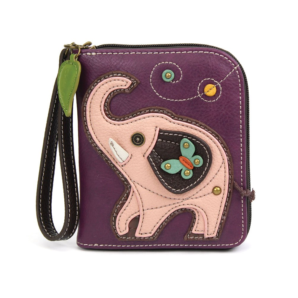 Chala Pal Zipper Wallet Collection (Elephant- Purple)