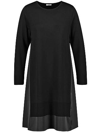 b4e294fbc06c10 Gerry Weber Damen Kleid Strick Kleid mit Materialpatch Schwarz Patch ...