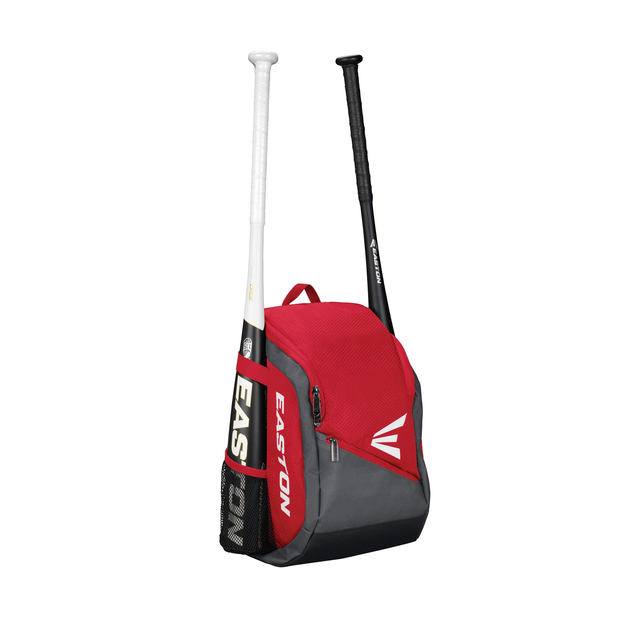 EASTON GAME READY Youth Bat & Equipment Backpack Bag | Baseball Softball | 2019 | Red | 2 Bat Pockets | Vented Main Compartment | Vented Shoe Pocket | Valuables Pocket | Fence Hook by Easton