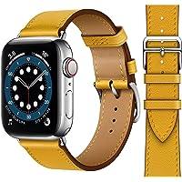 Danwon Pulseira de couro, compatível com pulseiras Apple Watch de 38 mm e 40 mm, muitas cores de couro fino de alta…