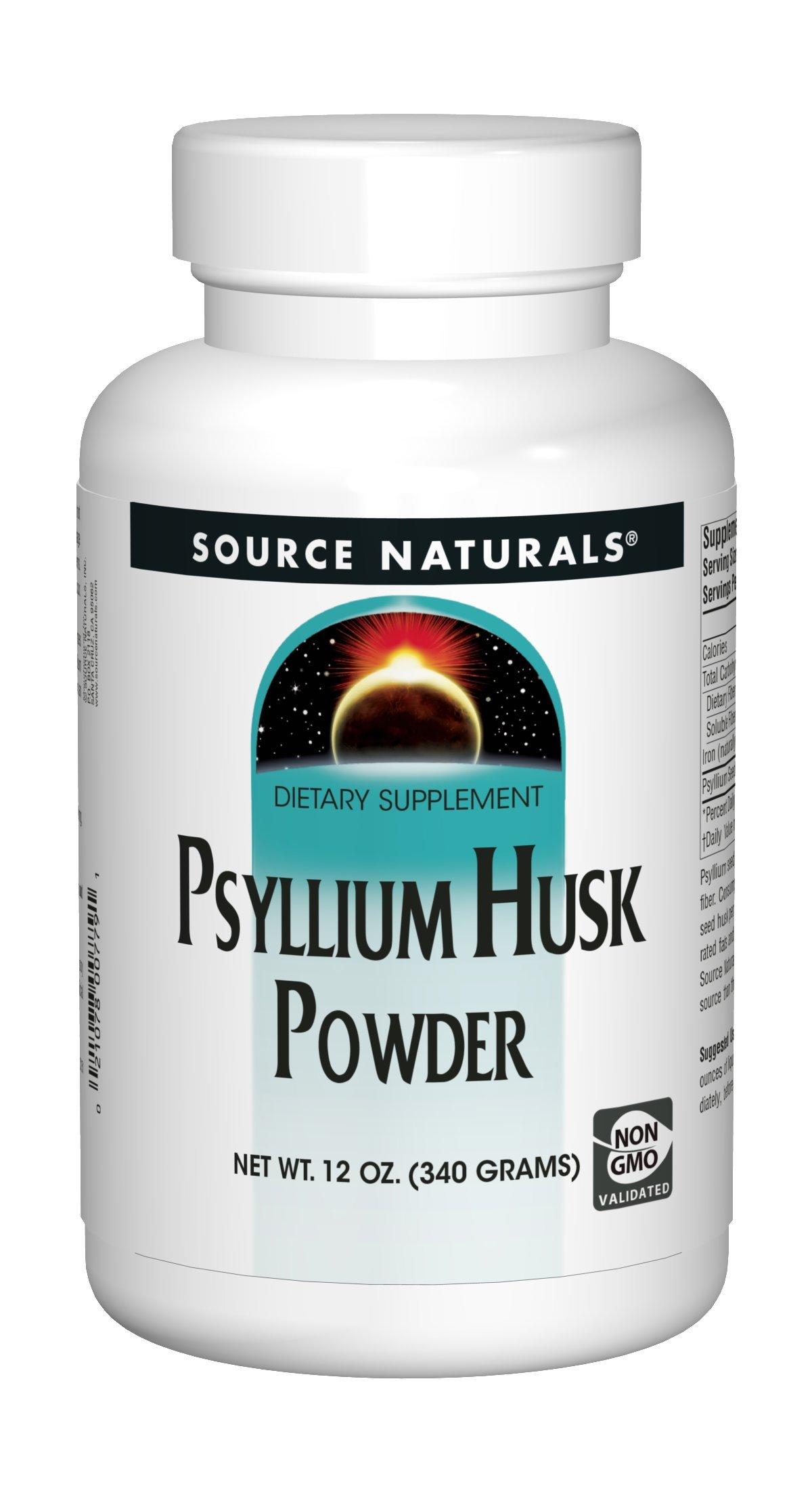 Psyllium Husk Powder, 12 oz by Source Naturals