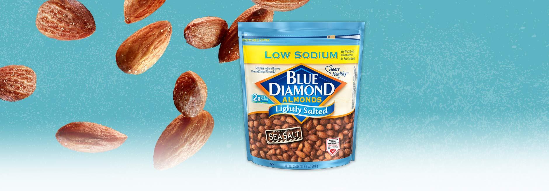 Blue Diamond Almonds, Low Sodium Lightly Salted, 25 Ounce by Blue Diamond Almonds (Image #3)
