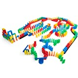 Bulk Dominoes 331 pcs Kinetic Dominoes Large PRO-Scale Stacking Building Toppling Chain Reaction Dominoes Set for Kids and Creators