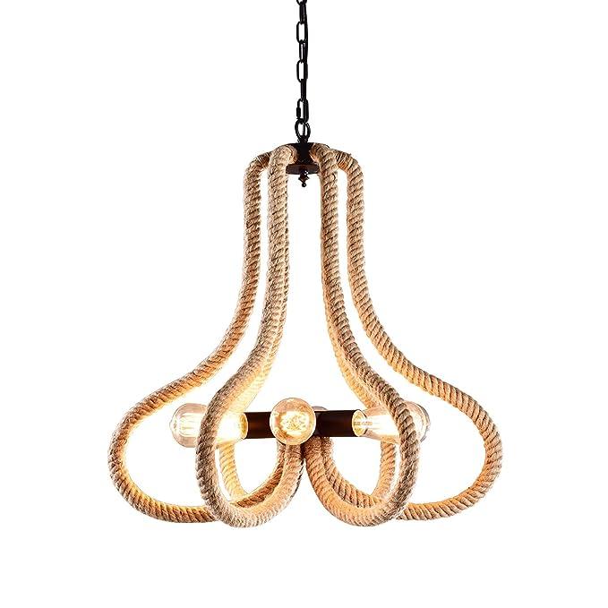 Amazon.com: hmvpl Vintage cuerda de cáñamo redondo de araña ...