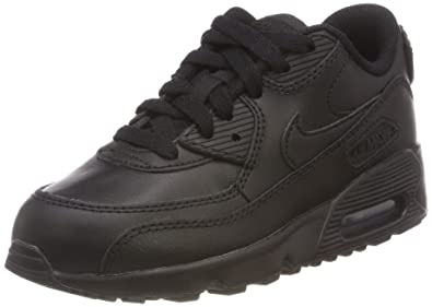 new york c22e9 f382a Nike 833412-001 Kid s Air Max 90 Leather Running Shoes, Black Black,