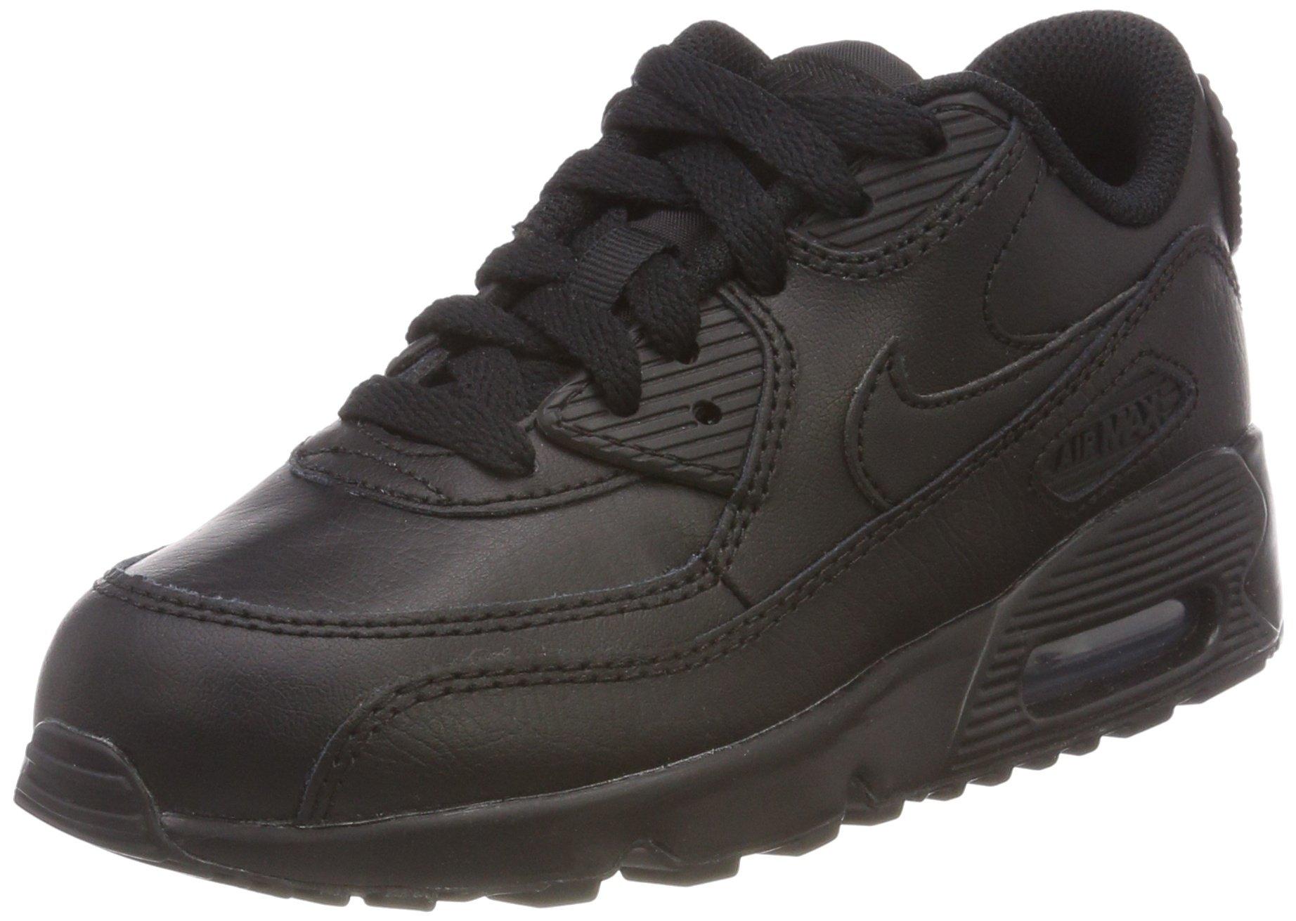 Nike Air Max 90 LTR Black/Black (Little Kid) (2.5 Little Kid M)