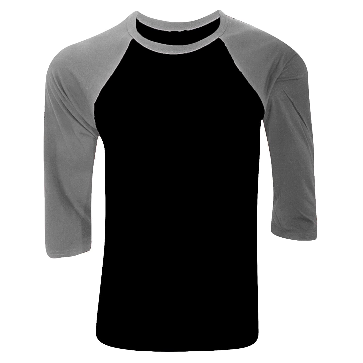 Pro tag 100 cotton 3 4 sleeve raglan baseball shirt in white black - Canvas Mens 3 4 Sleeve Baseball T Shirt