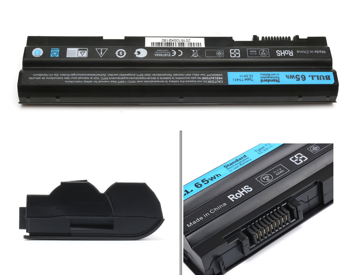 BULL-TECH 11.1V T54FJ New Laptop Battery for Dell Latitude E5420 E5520 E6420 E6520 Compatible P/N: M5Y0X 312-1163 HCJWT 7FJ92 by BULL-TECH (Image #2)