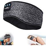 Sleep Headphones Bluetooth Sports Headband, Wireless Music Headband Headphones, IPX6 Waterproof Headphones with Mic for…