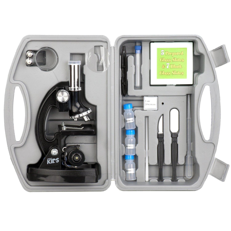 300X-600X-1200X Educational Biological Kids Microscope Kit with Metal Arm