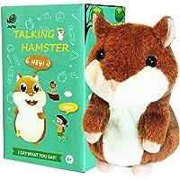 JoyToy Talking Hamster - Repeating Talking Hamster Plush Toy - Cute Talking Hamster for Baby Boys Girls