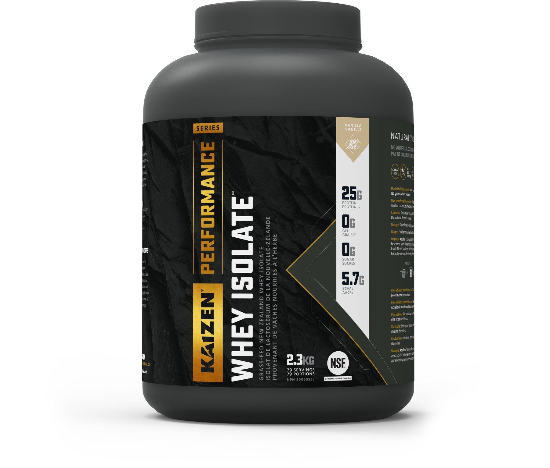 Kaizen Performance Series Whey Isolate Vanilla, 5 lbs