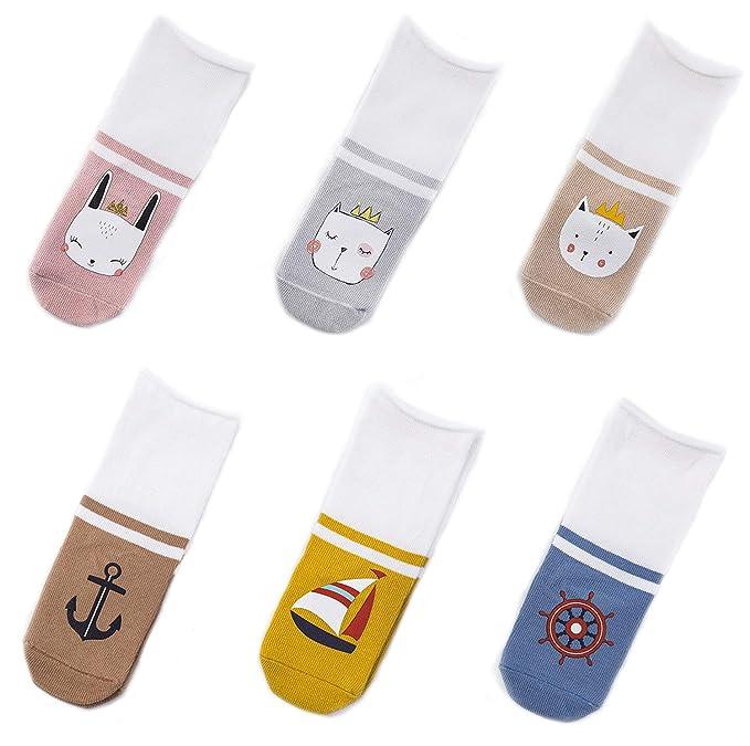 4b547da71 EIAY Shop Newborn Baby Infant   Toddler Cotton Socks Knee High Stockings  Cute 6 Pack (