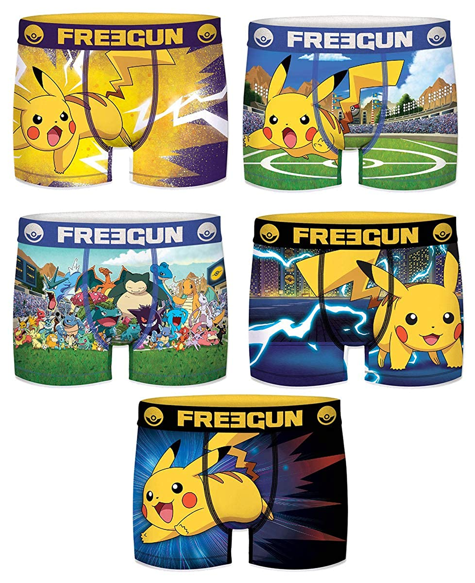 Assortment Models Photos According to Arrivals FREEGUN Boxer for Boys Pokemon