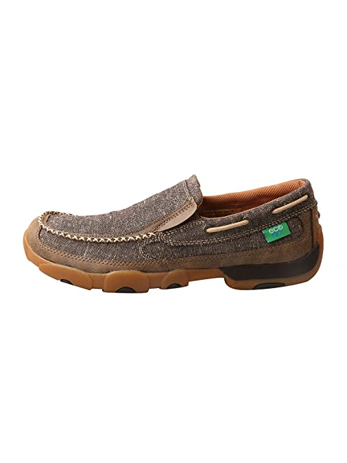 Twisted X Mens ECO TWX Slip-on Driving Moccasins - Dust
